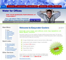 Easywater Cooler - Commercial Website
