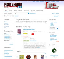 Prayer Rain - E-Commerce Website